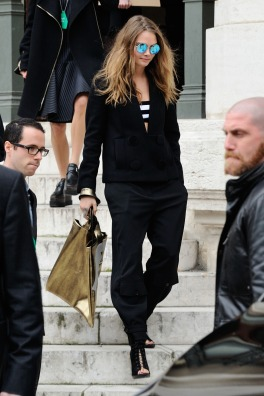 Cara Delevingne attending Stella McCartney's Fall-Winter 2015/2016 Ready-To-Wear collection show held at the Opera in Paris, France, on March 09, 2015. Photo by Aurore Marechal/ABACAPRESS.COM