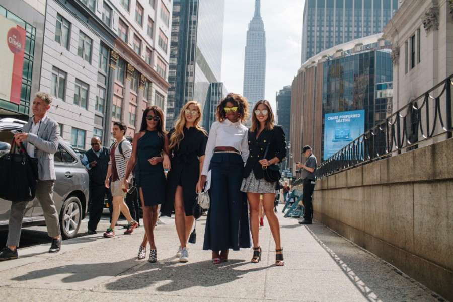 New York Fashion Week street style.
