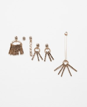 ZARA | Buy here/Buradan satın alın: http://www.zara.com/tr/en/woman/accessories/view-all/pack-of-assorted-earrings-c719013p3187392.html